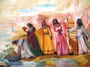 המיילדות העבריות. ציור: אהובה קליין