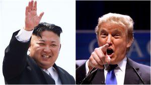 הנשיא טראמפ וקים ג'ונג און. צילום: פלאש 90