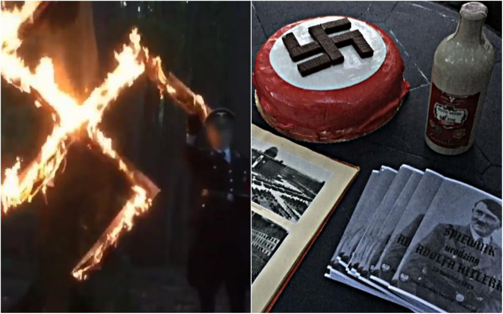 הרמת כוסית ועוגה לכבוד היטלר. צילום: Superwizjer