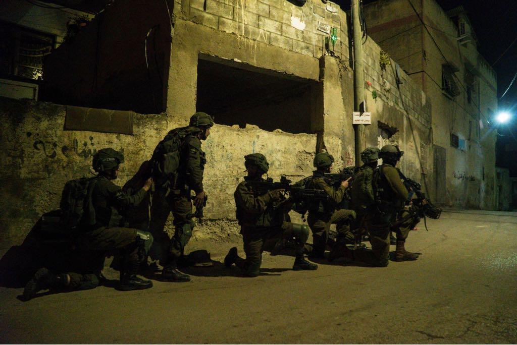 """פעילות כוחותינו הלילה. צילום: דובר צה""""ל"""
