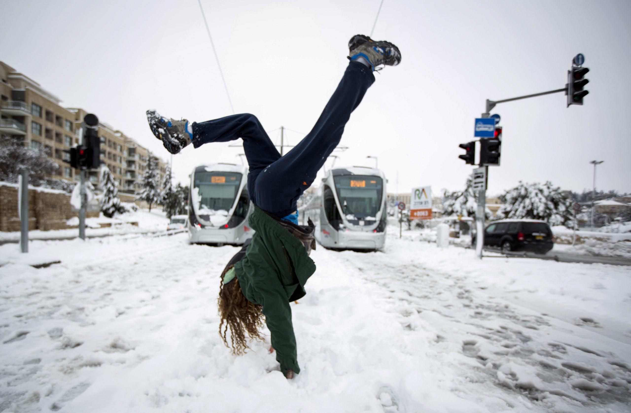 בירושלים 2021 שלג