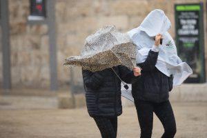 מזג אוויר סוער בירושלים, ינואר 2018. צילום: פלאש 90