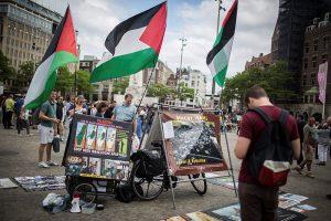 פעילי חרם בהולנד. צילום: הדס פרוש, פלאש 90