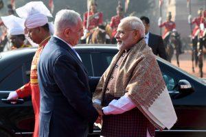 """ראש הממשלה נתניהו וראש ממשלת הודו מודי. צילום: אבי אוחיון, לע""""מ"""
