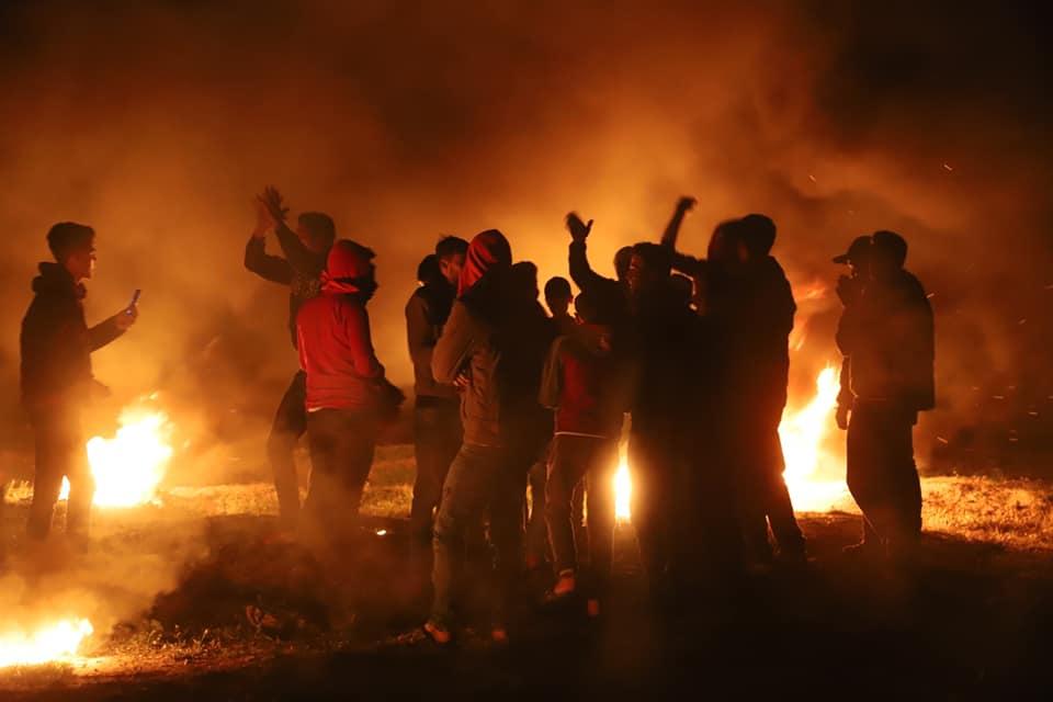 מתחם הנגריה בנתיב האבות בבוקר הפינוי 29 נובמבר 2017. צילום: מטה המאבק נתיב האבות