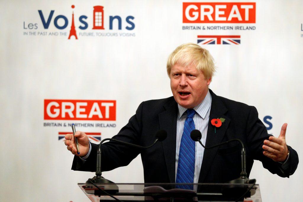 שר החוץ הבריטי בוריס ג'ונסון. צילום: רויטרס