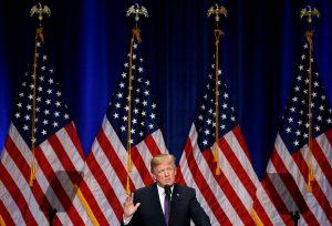 """נשיא ארה""""ב דונלד טראמפ, הערב. צילום: רויטרס"""