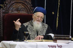 """הרב מרדכי אליהו זצ""""ל. צילום: פלאש 90"""
