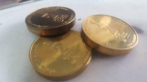 המטבעות המזוייפים. צילום: דוברות משטרה