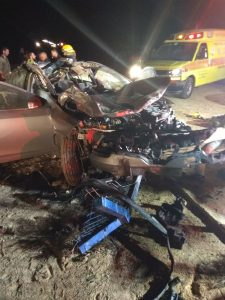זירת התאונה. צילום: דוברות כבאות והצלה מחוז דרום