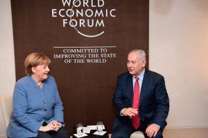 """ראש הממשלה בנימין נתניהו עם נשיא שווייץ שארל מישל. צילום: עמוס בן גרשום, לע""""מ"""