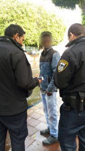 עבריין המין האריתראי שנעצר. צילום: דוברות המשטרה