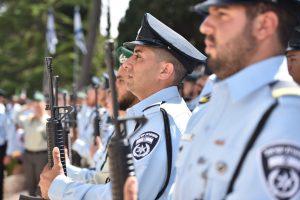 טקס יום הזיכרון לזכרם של השוטרים החללים. צילום: דוברות המשטרה