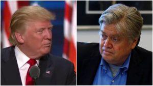 טראמפ ובאנון. צילום: פלאש 90