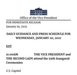 סגן הנשיא פנס לא צפוי להשתתף בטקס הפרידה מהנשיא טראמפ